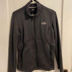Grey Northface Zip-up Jacket